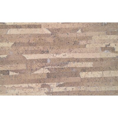Plank 7 x 46 x 10.5mm Cork Laminate Flooring in Matte Laso Creme