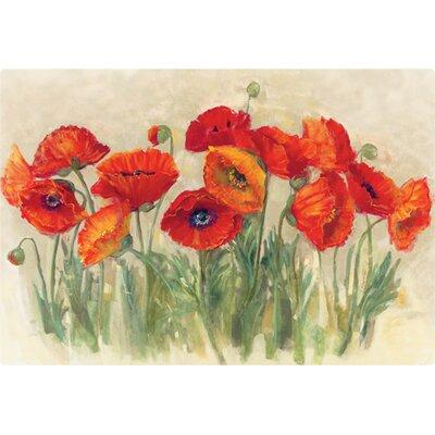 "7.5"" x 11"" Vibrant Poppies Design Cutting Board MSP060"