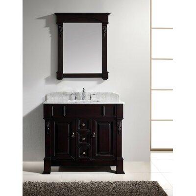 Huntshire 40 Single Bathroom Vanity Set with Mirror Base Finish: Dark Walnut