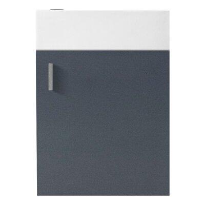 Carino 15.9 Single Bathroom Vanity Base Base Finish: Gray, Faucet Finish: Brushed Nickel