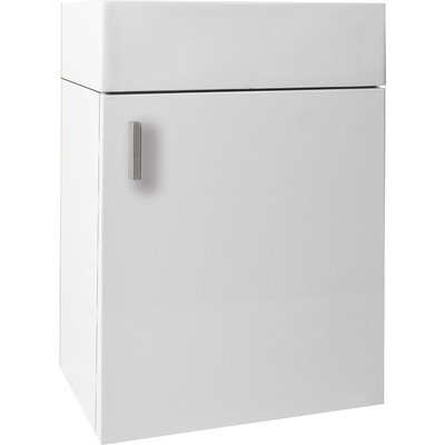 Carino 15.9 Single Bathroom Vanity Base Base Finish: Gloss White, Faucet Finish: No Faucet