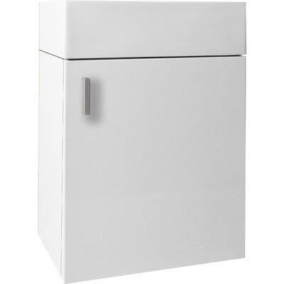 Carino 15.9 Single Bathroom Vanity Base Base Finish: Gloss White, Faucet Finish: Brushed Nickel