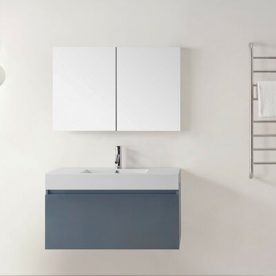 Frausto 39 Single Bathroom Vanity Set with White Top Base Finish: Gray