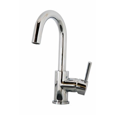Lithios Single Handle Single Hole Kitchen Faucet Finish: Polished Chrome