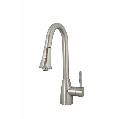 Varuna Single Lever Handle Kitchen Faucet Finish: Brushed Nickel