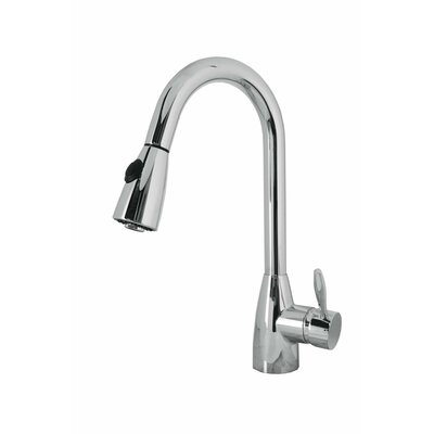 Neptune Single Handle Single Hole Kitchen Faucet with Pull-Down Spray Finish: Polished Chrome