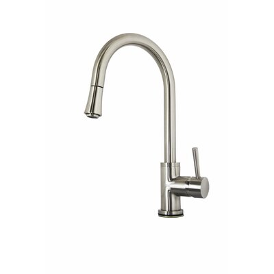 Sedna Single Handle Single Hole Kitchen Faucet with Pull-Down Spray Finish: Brushed Nickel