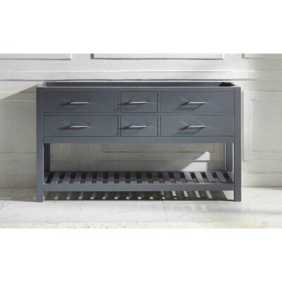 Caroline Estate 60 Bathroom Vanity Cabinet Base Finish: Gray