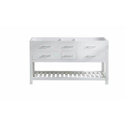 Caroline Estate 60 Bathroom Vanity Cabinet Base Finish: White