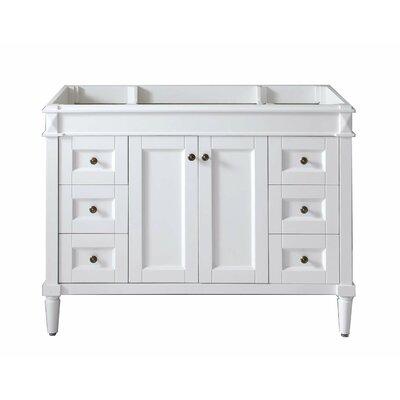 Tiffany 48 Bathroom Vanity Cabinet Base Finish: White