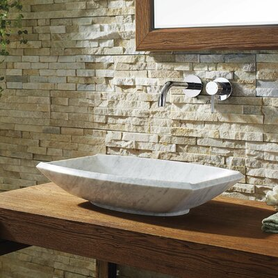 Pietra Series Stone Rectangular Vessel Bathroom Sink