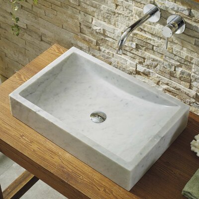 Pietra Series Stone Rectangular Vessel Bathroom Sink
