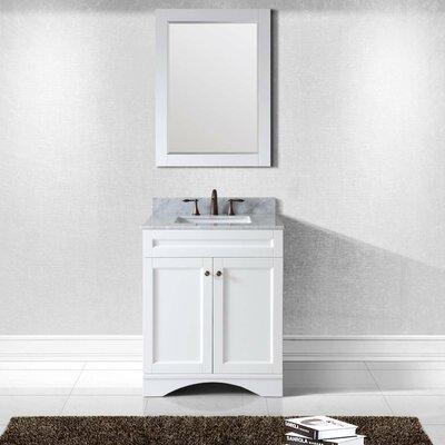 Templeton 30 Single Bathroom Vanity Set with Mirror Base Finish: White