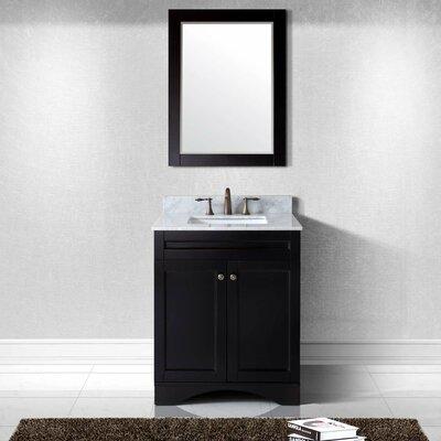 Bob 30 Single Bathroom Vanity Set with Mirror Base Finish: Espresso