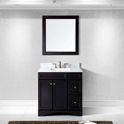 Rosado 36 Single Bathroom Vanity Set with Mirror Base Finish: Espresso