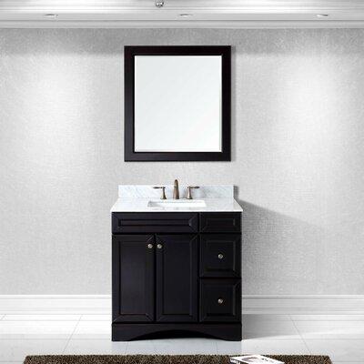 Girardeau 36 Single Bathroom Vanity Set with Mirror Base Finish: Espresso