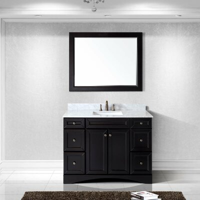 Rosado 48 Single Bathroom Vanity Set with Mirror Base Finish: Espresso