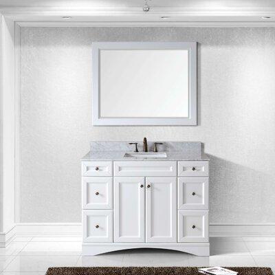 Girardeau 48 Single Bathroom Vanity Set with Mirror Base Finish: White