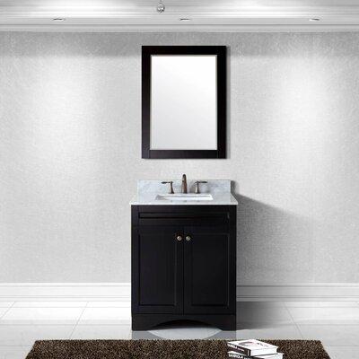 Girardeau 30 Single Bathroom Vanity Set with Mirror Base Finish: Espresso