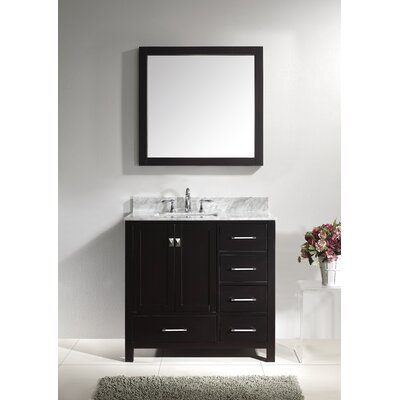 Bob 37 Single Bathroom Vanity Set with Mirror