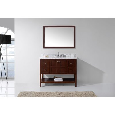 Bob 48 Single Bathroom Vanity Set Base Finish: Cherry, Sink Shape: Square