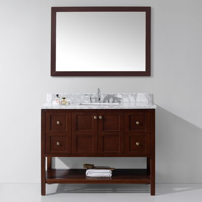 Templeton 48 Single Bathroom Vanity Set Base Finish: Cherry, Sink Shape: Square