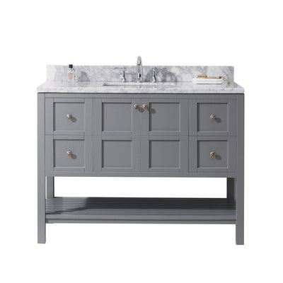 Bob 48 Single Bathroom Vanity Set Base Finish: Gray, Sink Shape: Square