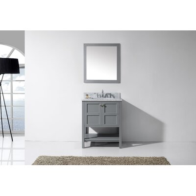 Knupp 30 Single Bathroom Vanity Set with Mirror Base Finish: Gray, Sink Shape: Square