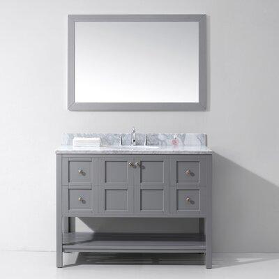 Templeton 48 Single Bathroom Vanity Set Base Finish: Gray, Sink Shape: Round