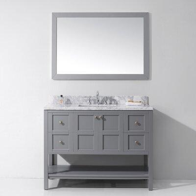 Templeton 48 Single Bathroom Vanity Set Base Finish: Gray, Sink Shape: Square