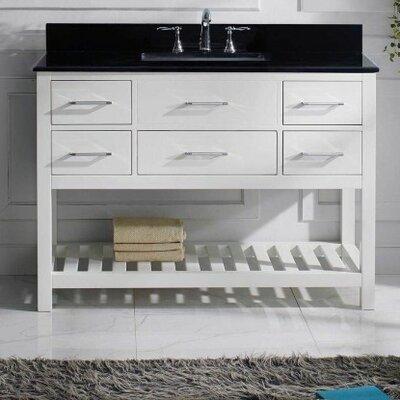 Caroline Estate 48 Bathroom Vanity Cabinet Base Finish: White