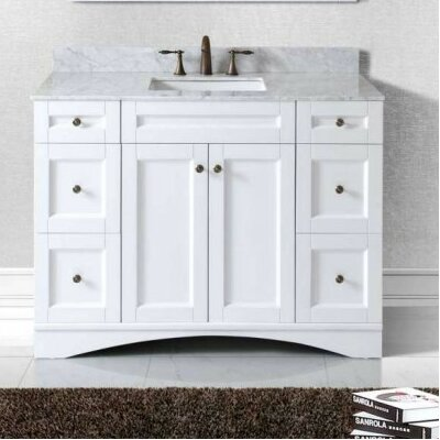 Elise 47 Bathroom Vanity Base Base Finish: White