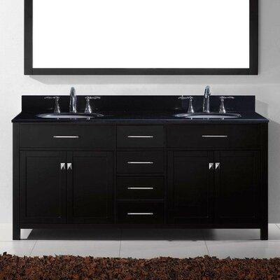 Caroline Parkway 72 Bathroom Vanity Cabinet Base Finish: Espresso