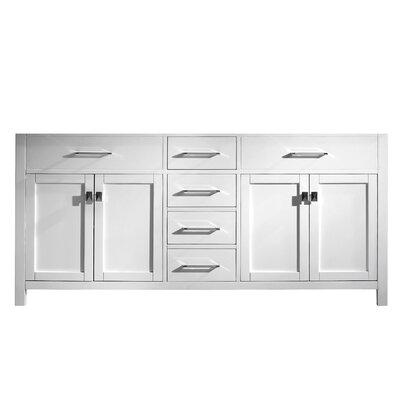 Caroline Parkway 72 Bathroom Vanity Cabinet Base Finish: White