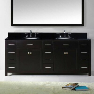 Caroline Parkway 78 Bathroom Vanity Base Finish: Espresso