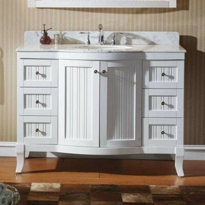 Khaleesi 48 Bathroom Vanity Cabinet Base Finish: White