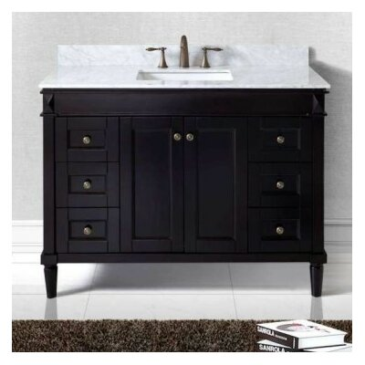 "Tiffany 48"" Bathroom Vanity Cabinet Base Finish: Espresso"