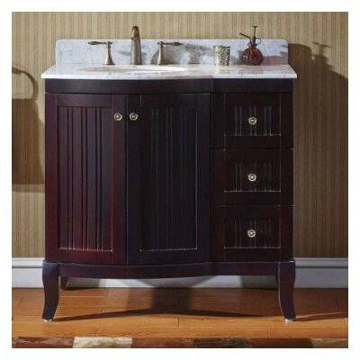 Khaleesi 36 Bathroom Vanity Cabinet Base Finish: Espresso