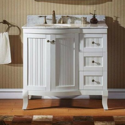 Khaleesi 36 Bathroom Vanity Cabinet Base Finish: White