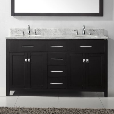 "Caroline Estate 72"" Bathroom Vanity Cabinet Base Finish: Espresso"