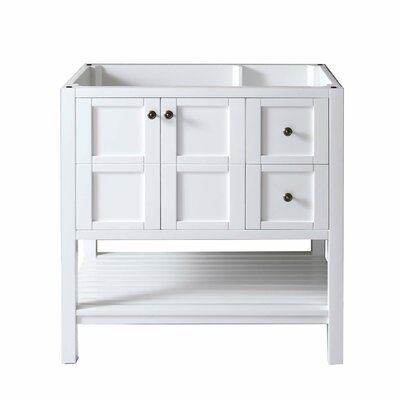 Winterfell 35 Bathroom Vanity Base Base Finish: White
