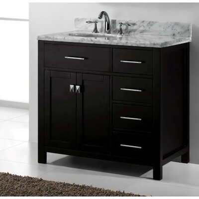 Caroline Parkway 36 Bathroom Vanity Base Base Finish: White