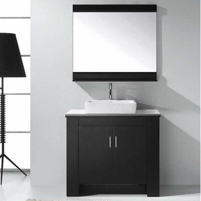Glen Ridge 36.2 Single Bathroom Left Side Vanity Set and Mirror