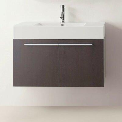 Frausto 35 Wall-Mount Single Bathroom Vanity Set Base Finish: Wenge