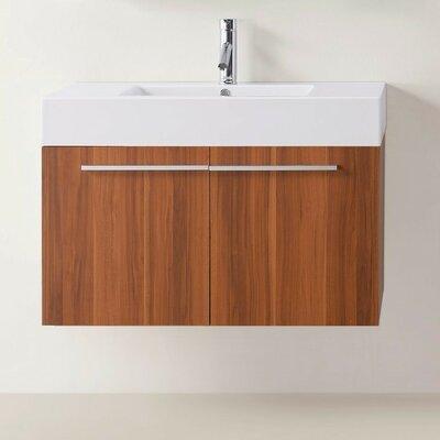Frausto 35 Wall-Mount Single Bathroom Vanity Set Base Finish: Plum