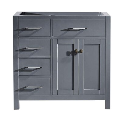 Caroline Parkway 36 Bathroom Vanity Base Base Finish: Gray