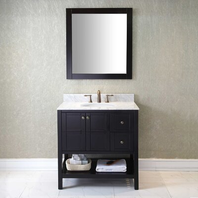 36 Single Bathroom Vanity Base Finish: Espresso