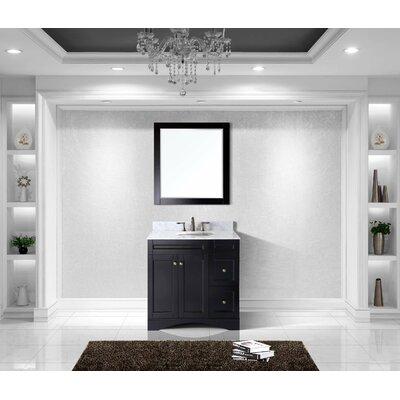 Templeton 36 Single Bathroom Vanity Set with Carrara White Top and Mirror