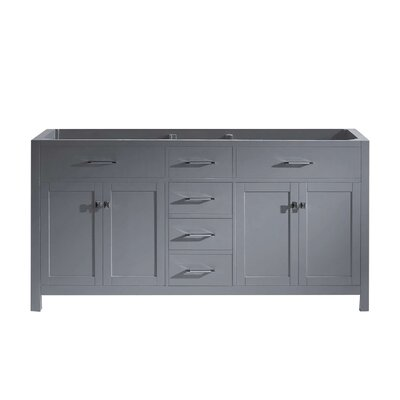Caroline Parkway 72 Bathroom Vanity Base Base Finish: Gray