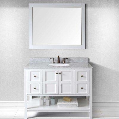 Templeton 48 Single Bathroom Vanity Set Base Finish: Cherry, Sink Shape: Round